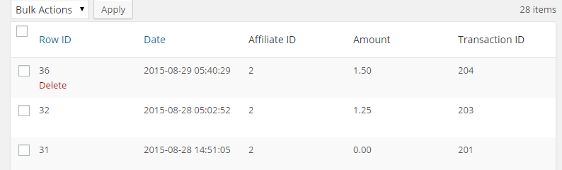 screenshot showing how to manually adjust an affiliate commission
